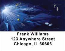 Ocean Address Labels by David Dunleavy