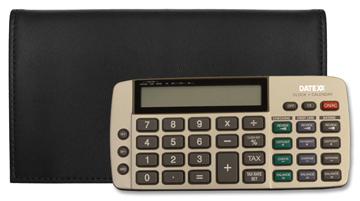 Black Tri-fold Checkbook Calculator Cover