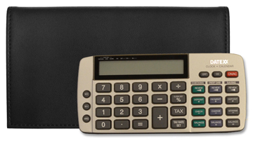 Black Tri-fold Checkbook Calculator Cover $ 34.99