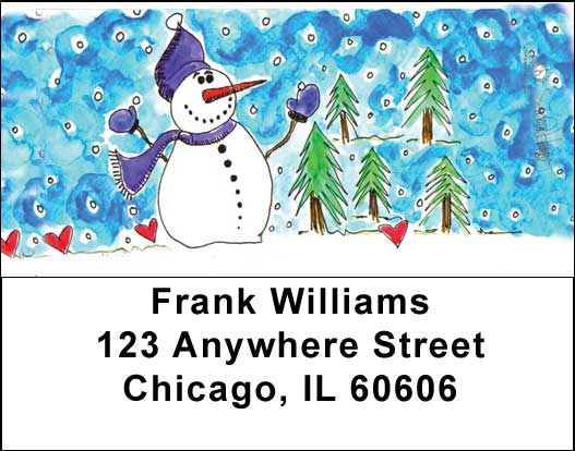 Winter Wonderland Address Labels by Amy S. Petrik