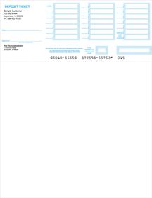 Quickbooks Laser/Inkjet Deposit Tickets