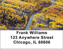 Autumn Roads Address Labels