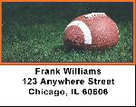 Blue & Orange Football Team Address Labels