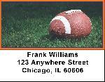 Blue & Orange Football Team Address Labels