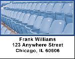 Blue & White Football Team Address Labels