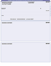 Blue Lines Laser Business One Per Page Voucher Checks - Top Style