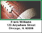 Green & White Football Team Address Labels $ 5.99
