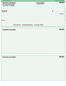 Green Lines Laser Business One Per Page Voucher Checks - Top Style $ 11.99