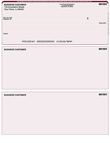 Burgundy Lines Laser Business One Per Page Voucher Checks - Top Style