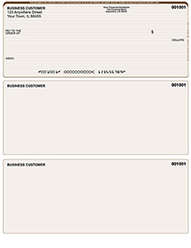 Tan Lines Laser Business One Per Page Voucher Checks - Top Style $ 11.99