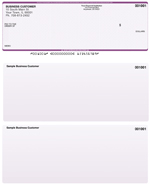 Violet Safety Laser Business One Per Page Voucher Checks - Top Style $ 11.99