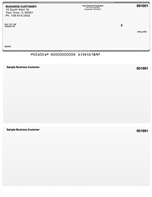Grey Safety Laser Business One Per Page Voucher Checks - Top Style $ 11.99