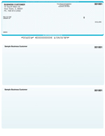 Teal Safety Laser Business One Per Page Voucher Checks - Top Style $ 11.99