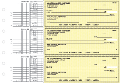 Yellow Safety Multi Purpose Business Checks