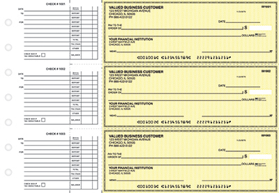 Yellow Safety Accounts Payable Checks