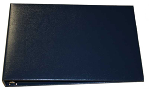 Blue Business 7 Ring Check Binder