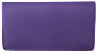 Neon Purple Vinyl Check Book Cover
