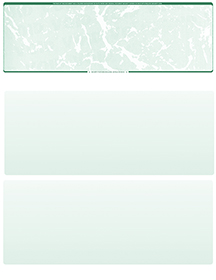Green Marble Blank Stock for Computer Voucher Checks Top Style $ 11.99