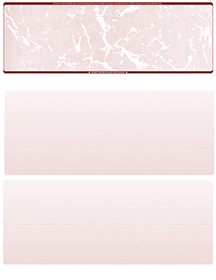 Burgundy Marble Blank Stock for Computer Voucher Checks Top Style