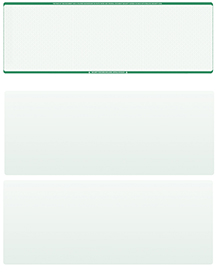 Green Safety Blank Stock for Computer Voucher Checks Top Style