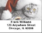 Christmas Cats Address Labels