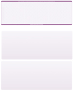 Violet Safety Blank Stock for Computer Voucher Checks Top Style $ 11.99