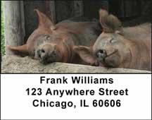Barnyard Friends Address Labels