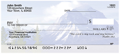 Scenic Scriptures Top Tear Personal Checks