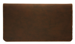 Dark Brown Leather Checkbook Cover $ 11.99