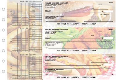 Business Checks Store -  American Cuisine Multi Purpose Designer Business Checks