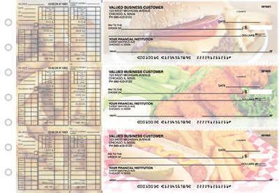 Business Checks Store -  American Cuisine Payroll Designer Business Checks