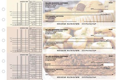 Business Checks Store -  Bakery Multi Purpose Designer Business Checks