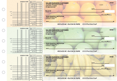 Business Checks Store -  Fruit Multi Purpose Designer Business Checks