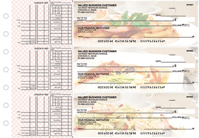 Business Checks Store -  Italian Cuisine Multi Purpose Designer Business Checks
