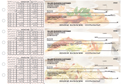 Business Checks Store -  Italian Cuisine Payroll Designer Business Checks