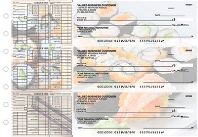 Business Checks Store -  Japanese Cuisine Payroll Designer Business Checks