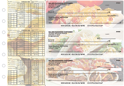 Business Checks Store -  Mexican Cuisine Payroll Designer Business Checks