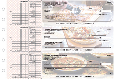 Business Checks Store -  Pizza Multi Purpose Designer Business Checks