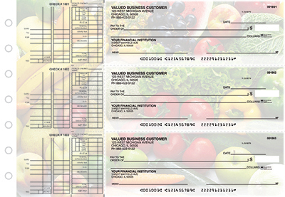 Business Checks Store -  Fresh Produce Multi Purpose Designer Business Checks