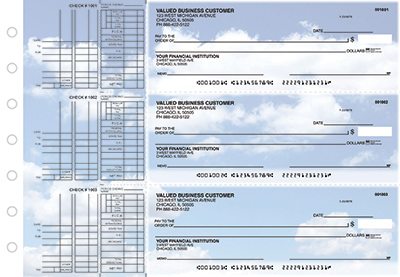 Business Checks Store -  Clouds Multi Purpose Designer Business Checks
