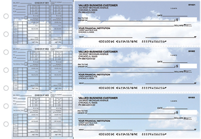 Business Checks Store -  Clouds Payroll Designer Business Checks