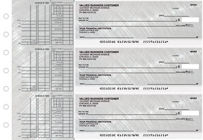 Business Checks Store -  Brushed Metal Multi Purpose Designer Business Checks