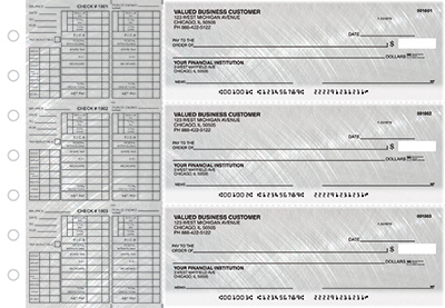 Business Checks Store -  Brushed Metal Payroll Designer Business Checks