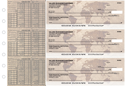 Business Checks Store -  World Map Payroll Designer Business Checks