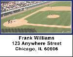 Navy Blue & White Baseball Team Address Labels