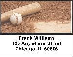 Black & White Baseball Team Address Labels