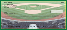 Green & Yellow Baseball Team Personal Checks