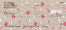Skulls & Hearts Personal Checks