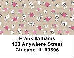 Skulls & Hearts Address Labels