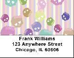 Pastel Skulls Address Labels
